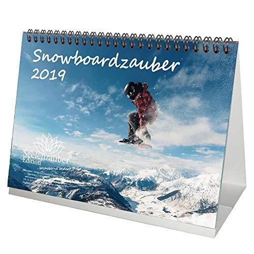 Snowboardmagie · DIN A5 · Premium tafelkalender/kalender 2019 · sport · wandelen · uitrusting · top· bergen · alpine · uitstekende helling · snowboard · Edition zielmagie