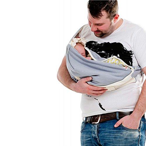 Lodger Shelter 2.0 – 3in1 Babytrage, Babytragetuch, Babysling sowie Transportdecke für Babys und Eltern, ab Geburt bis 18 Monate (max. 12kg), Sicheres Verschlusssystem, Trage-Tuch für Babys und Kinder, Schönes Design, Neu und OVP - 8