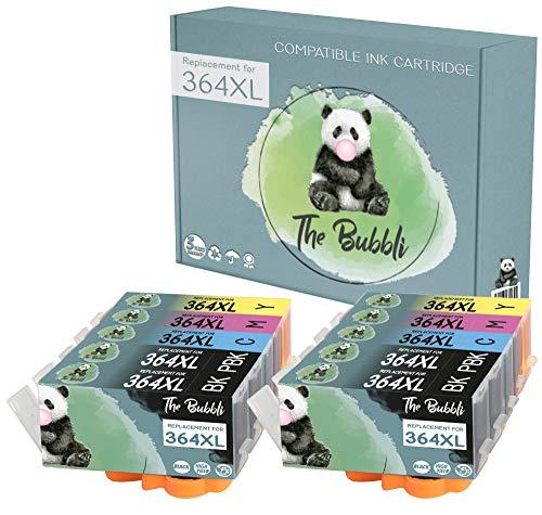 The Bubbli Original | 364 364XL Cartucho de Tinta Compatible para HP Photosmart 7520 C310A 7510 C410a C309g C6380 C309a D7560 D5460 B8550 C410b C309n C6324 C5324 C6388 D5468 C5380 (10-Pack)
