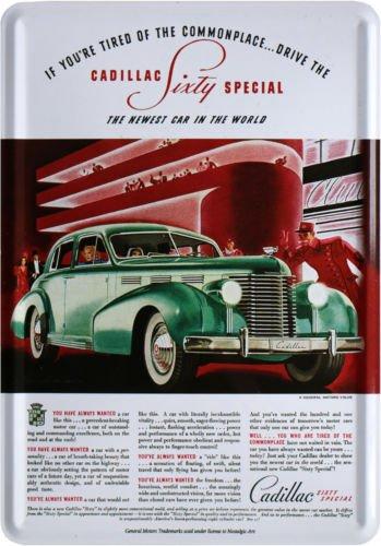 Cadillac Sixty Special Auto Nostalgie Blechschild Postkarte Blechkarte PKM 218