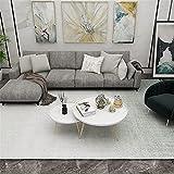 Kunsen Alfombra Salón Diseño Minimalista Beige Gris Claro. decoración del hogar Alfombra 160X230cm