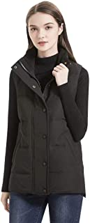 valuker Women's Waterproof Thickened Down Vest with 90% Down Puffer Jacket