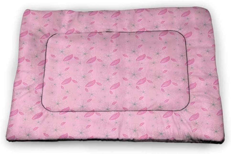 Limited time sale prunushome Dog Bed Crate Mat for Cat Floral Beds shop