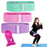 Victor Fitness Resistance Hip/Booty Band for Strength Training, Yoga, Squats, and Weight Lifting. Comes in a 3-Pack (Teal, Pink, & Purple)