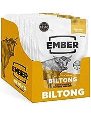 Ember Biltong – Carne Secca Beef Jerky Originale – Snack Proteico Tascabile, Senza Zuccheri Aggiunti – Gusto Original (10 Pacco)