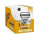Ember Snacks - Original Flavour Rind Trockenfleisch - Glutenfreier Snack mit hohem Proteingehalt, Gewinner des Great Taste Award 2020 - 10x28g