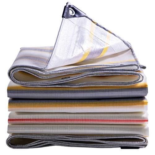 HUADA Verdicken Tarpaulin Farbe Streifen wasserdichte Tuch-Sonnenschutz-PVC-Krepp Leinwand Autoschild unter den Kunststoffen Schutz 210G / M2 (Size : 4mx4m)