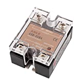 uxcell ASH-25DA Solid State Relay 3-32VDC to 24-480VAC 25A Single Phase SSR DC to AC Relay