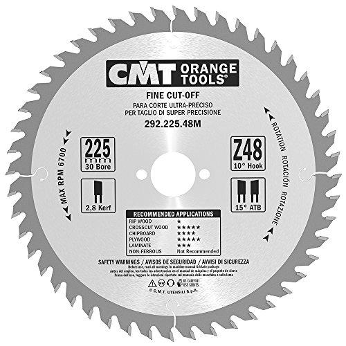 CMT Orange Tools 292,225,48 m scie circulaire 225 x 30 x 2,8 z atb 48 15 degrés