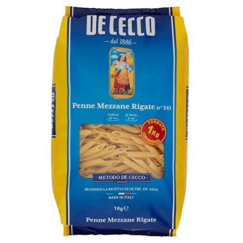 De Cecco - Pasta, Penne Mezzane Rigate - 1000 G