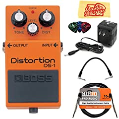 Classic BOSS Distortion tones for guitar and keyboard Reproduces dynamics of playing, from soft to hard Distortion, Level and Tone control to tailor overall sound as desired BOSS 5-year warranty Classic, affordable live distortion