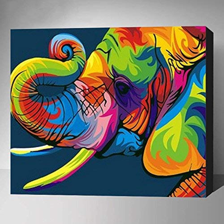 CNHK Ölgemälde,digitales Malerei-Kit für Erwachsene Kinder, Acrylmalerei, Elefant 40x50 cm, Bürohausdekoration (mit Innenrahmen) B07NP6CW4B | Online-verkauf