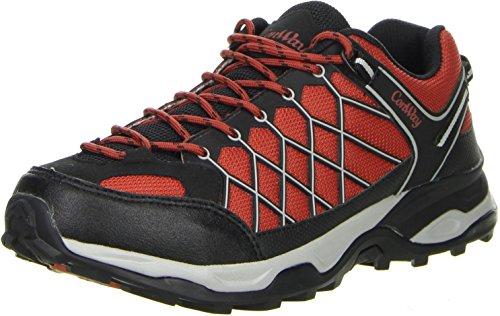 ConWay Sportschuhe Schnürsenkel Herren Outdoor Trekking Schuhe Stratos orange, Farbe:orange, Größe:43 EU