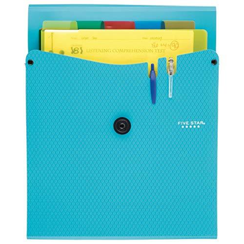 Five Star Expanding File Folder, 5-Pocket Vertical Expandable File Folder, Teal (72502) Photo #4