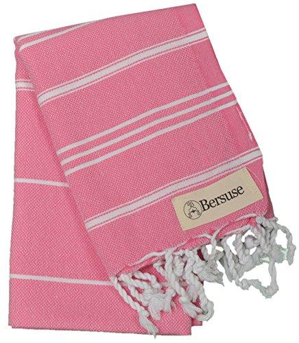 Bersuse 100% Baumwolle - Anatolia Türkisches Handtuch Geschirrtuch - Pink