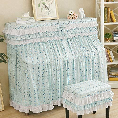 Upright Piano Abdeckung amerikanische Full Cover Klavier Abdeckung Pastoral Klavier Abdeckung Staubschutz Multi-Color (Color : Blau, Size : Double Bench)