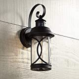 Capistrano Mission Outdoor Wall Light Fixture LED Black Hanging 12.75' Motion Security Sensor Dusk to Dawn Exterior House Porch Patio Outside Deck Garage Yard Front Door Home - John Timberland
