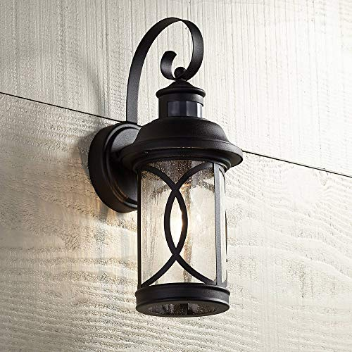 Capistrano Mission Outdoor Wall Light Fixture LED Black Hanging 12.75