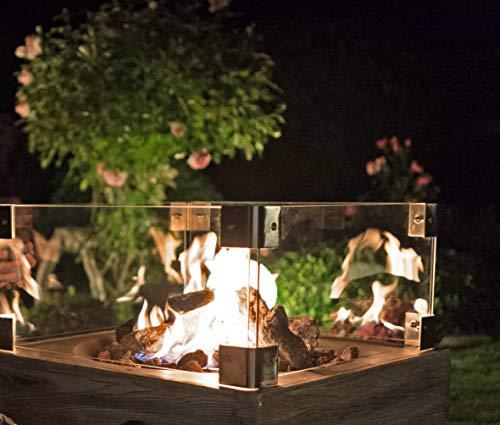 Clifton Glasaufsatz für Gaskamin Heizpilz Feuerstelle Garten Außenkamin; - 2