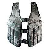Yosoo 20KG / 44LBS Adjustable Camouflage Weighted Vest Training Workout...