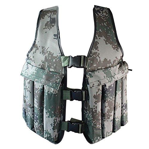 Yosoo 20KG / 44LBS Adjustable Camouflage Weighted