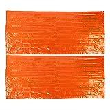 LIUTT Saco de Dormir 2Pcs/Set Película de Aluminio PE Saco de Dormir de Emergencia Saco de Dormir térmico Impermeable para Acampar