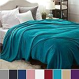 Bedsure Plaid Couverture Polaire Turquoise Couvre-lit 220x240cm pour 2 Personnes - Plaid Douce et Chaude JetédeCanapé Flanelle Grande Taille