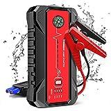 NWOUIIAY Démarrage de Voiture Portable 20000mAh 1600A Booster Batterie avec Sorties Charger Rapidement 3.0 Lampe LED et Pinces de Sûreté Iintelligentes (7L de Essence 6 L Diesel)