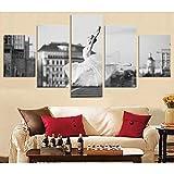 AKmene wohnkultur 5 teilige leinwandbilder Bild auf Ballett Tanz Retro Hd Print Wand Home Wohnzimmer büro