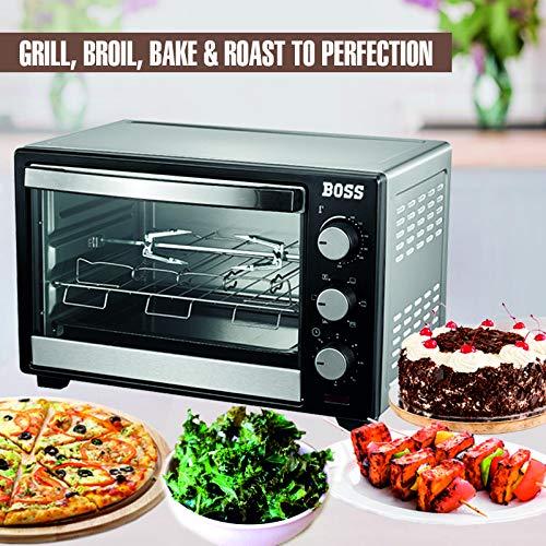 Boss Desire Stainless Steel Oven Toaster Griller OTG (30-L, Black)