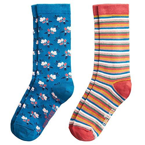 King Louie Damen Socken 2 Paare im Set Savannah (39-42, Bay Blue)