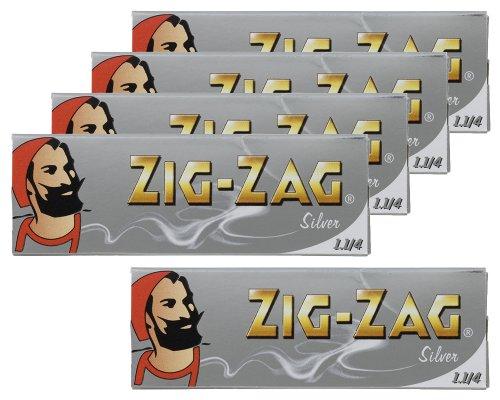 柘製作所(tsuge) ジグザグ シルバー 1 1/4 [スローバーニング ・ 50枚入り] #78838 ×5パック