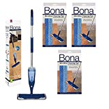 Best Bona Spray Mops - Bona Hardwood Spray Mop with 3 Bona Microfiber Review