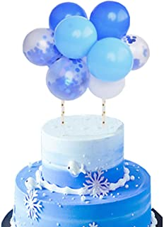 Cake Topper Blue Balloon Garland Arch Confetti Balloon Cake Toppers 10pcs/Set 5inch Frozen Party Supplies Birthday Cake De...