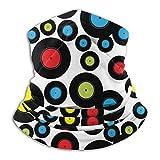 Polaina De Cuello Retro Vinyl Record Black 26X30Cm Soft Neck Gaiter Warmer Bandanas Trabajo Colorido Ciclismo Camping Pesca Headwear Seamless Al Aire Libre Deportes Senderismo Uni
