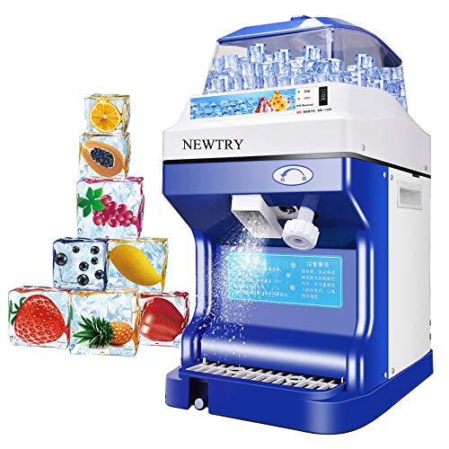Why Should You Buy NEWTRY Commercial Ice Shaver 441LB/H Snow Cone Maker Thickness Adjustable Ice Sha...