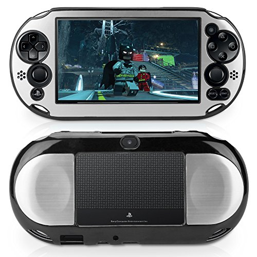 Capa fina Sony Playstation Vita, BoxWave [Minimus Brushed Alumínio] Capa traseira de alumínio escovado de perfil ultra baixo para Sony PlayStation Vita Slim - Prata metálica