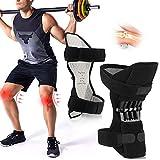 Joint Support Knee Pads丨Protección Booste Leg丨1 Par Rodillera Apoyo de La Rodilla Ajustable con Poderoso Rebote de Primavera Knee Booster para Piernas Débiles, Artritis