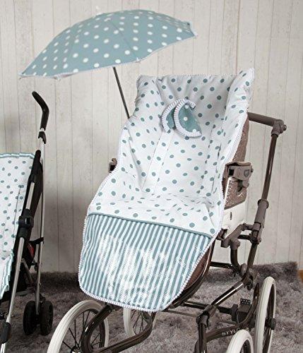 Babyline Carrusel - Colchoneta para silla de paseo, color verde