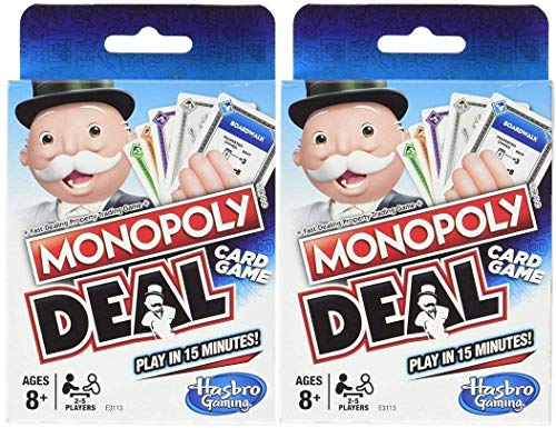 Monopoly Deal Classic Blue 2-Pack - Hasbro Card Game Deck - 110 Playing Cards