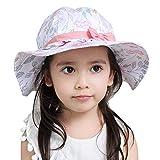 Feoya Sombrero para Beb/é Ni/ña Estampado Flores Tipo de Pescador de Algod/ón Gorro Protecci/ón contra Sol Blanco