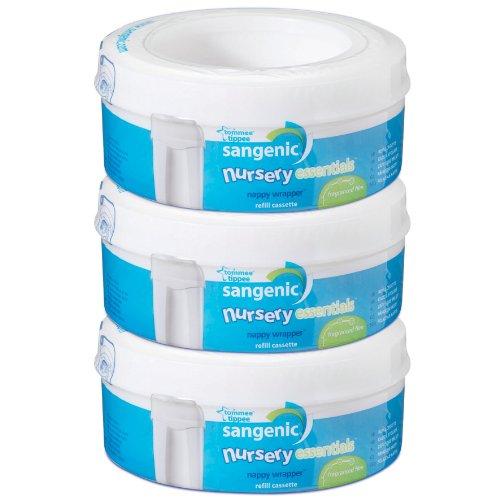 Tommee Tippee Nursery Essentials - Ricariche Sangenic per lo smaltimento dei pannolini, 0+ mesi, 3 pezzi