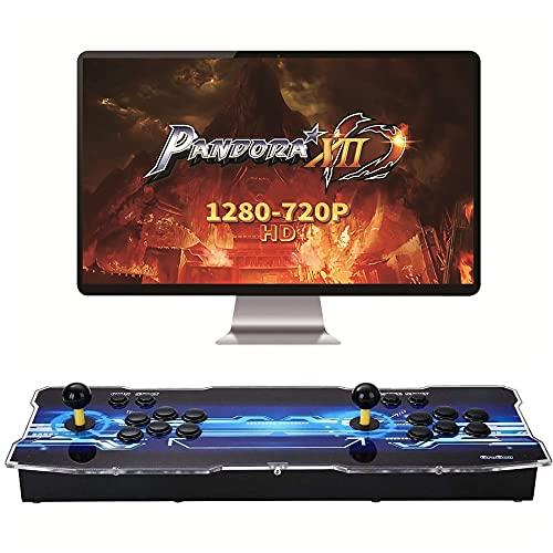 Pandora Box 12 Classic Arcade Video Game Machine 3188 en 1 ,2 Consolas domésticas con Joystick,720P Full HD,ersonalización de Botones de Soporte y Juegos multijugador