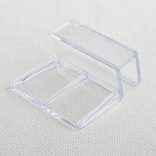 Haven shop 4 Stück Aquarien Aquarium Acryl Clips Glasabdeckung Halterung Halter Universal Deckel Clips für randlose Aquarien