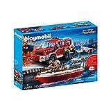 Playmobil 70054 – Juego de Bomberos con Bomberos y Bote de Bomberos,...