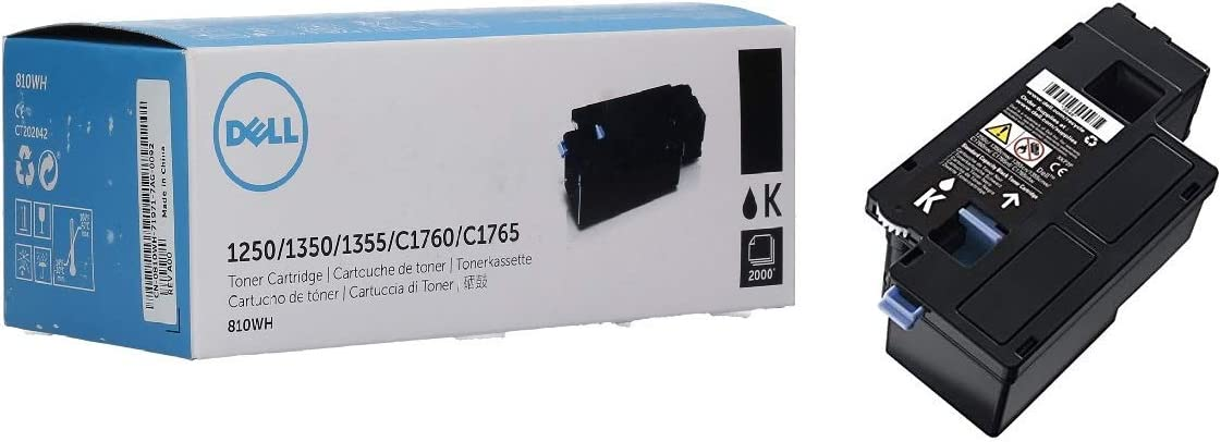 DELL PRINTER ACCESSORIES 810WH 2000PG BLK 1250C/1350CNW/1355CN 1355CNW/C1760NW/C1765NF/C1765NFW