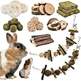KATUMO Rabbit Chew Toys, DIY Hamster Chew Toys Bunny Teeth Care Molar Toys Ideal for Rabbit, Guinea Pig, Chinchilla, Hamster, Squirrel, Gerbils Etc Small Rodent Pets' Teeth Grinding