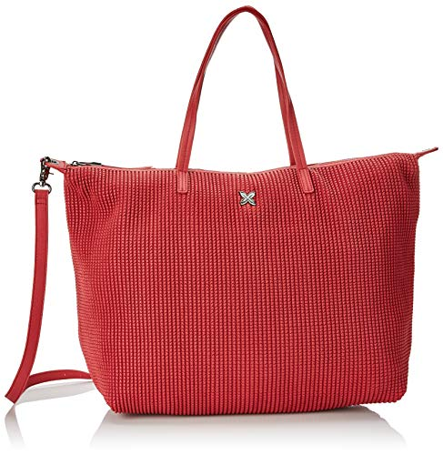 Munich Damen SHOPPING BIG RICE Schultertasche, Rot (Red), 17x36x50 centimeters
