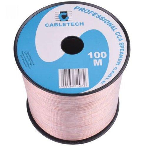 CABLETECH 2 x 4,00mm luidsprekerkabel CCA 100m spoel