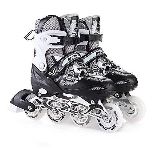 Nsjfkdd Inline skates Adjustable Maten Padded Rolschaatsen for kinderen Vrouwen Man rolschaats Set Skating Schoenen Junior Girls Roller ShoesUnisex Volwassenen Schaatsen Schoenen Speed